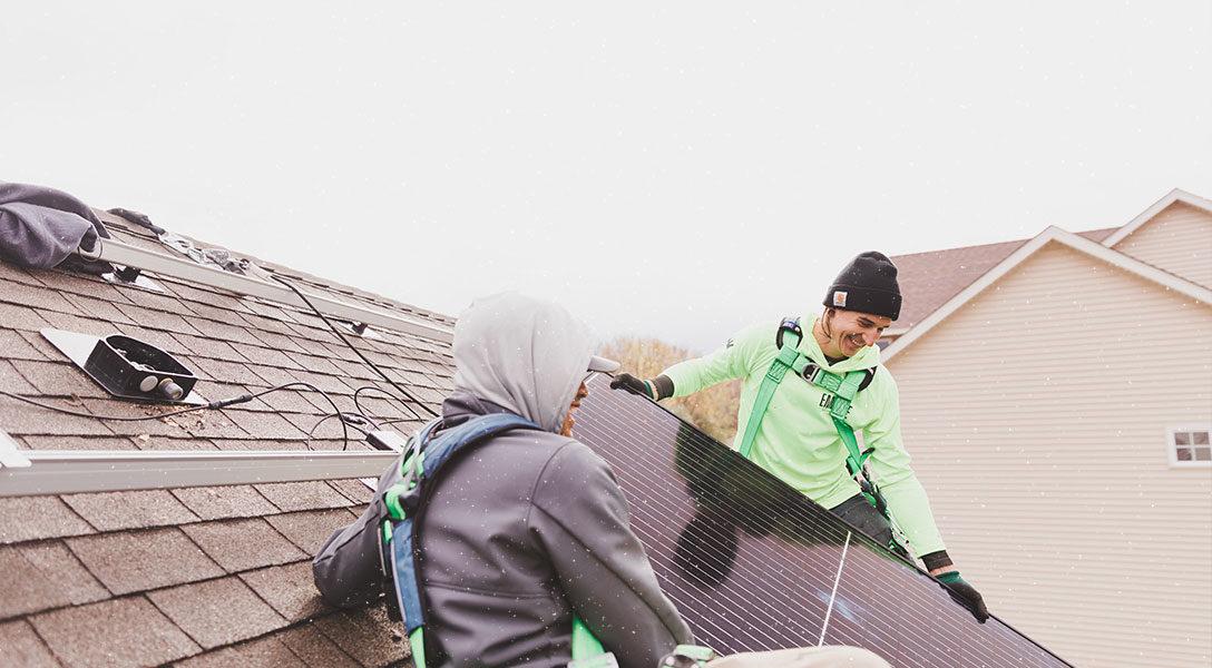 Solar Panels In The Snow